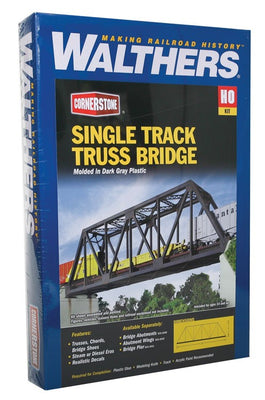 Walthers: Single-Track Railroad Truss Bridge -- Kit - 20 x 3-1/4 x 5