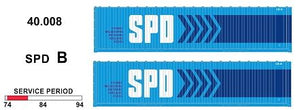 SDS Models: 40' Jumbo Containers: Twin Packs: SPD B : 40.008