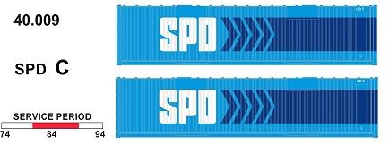 SDS Models: 40' Jumbo Containers: Twin Packs: SPD C : 40.009