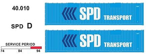 SDS Models: 40' Jumbo Containers: Twin Packs: SPD D : 40.010