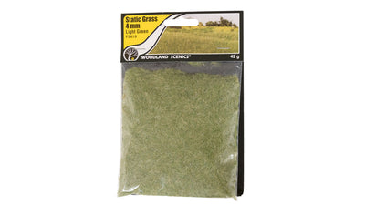 Woodland Scenics: FS619 STATIC GRASS -4MM LIGHT GREEN