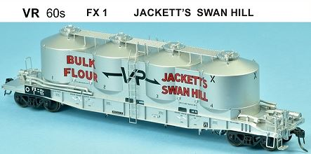 SDS Models: Victorian Railways: FX / VPFX: Bulk Flour Wagon: VR 60's: Single Pack FX1 Jackett's Swan Hill