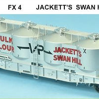 SDS Models: Victorian Railways: FX / VPFX: Bulk Flour Wagon: VR 60's: Single Pack FX4 Jackett's Swan Hill