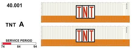 SDS Models: 40' Jumbo Containers: Twin Packs: TNT A : 40.001