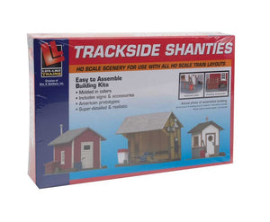 WALTHERS / LIFE-LIKE : Trackside Shanties -- Kit - 3 Different Shacks 433-1348