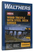 "Walthers: Trestle w/Deck Girder Bridge -- Kit - 15-1/2 x 4 x 4"" 38.7 x 10 x 10cm"