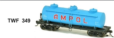 SDS Models: Vic Railways: 10000 Gallon Rail Tank Car: Single Pack: AMPOL TWF 349 BLUE