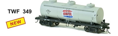SDS Models: Vic Railways: 10000 Gallon Rail Tank Car: Single Pack: AMPOL TWF 349 GRAY
