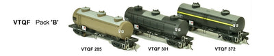 SDS Models: Vic Railways: 10000 Gallon Rail Tank Car: 3 x VTQF Pack B