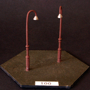 Uneek 100: HO Gauge Railway: Accessories: English Light Post: Pkt 3: No. 100