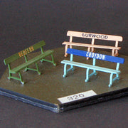 Uneek 320: HO Gauge Railway: Accessories: Platform Seats: Pkt 3: No. 320.
