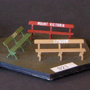 Uneek 321: HO Gauge Railway: Accessories: Platform Seats 1920's: Pkt 3: No. 321