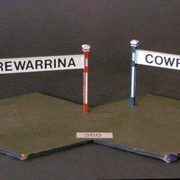 Uneek 360: HO Gauge Railway: Accessories: Station Name Sign: Pkt 2: No. 360