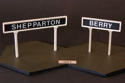 Uneek 361: HO Gauge Railway: Accessories: Framed Station Name Sign: Pkt 2: No. 361