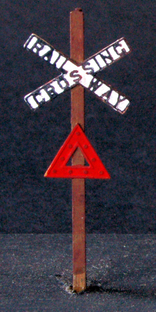 Uneek 461: HO Gauge Railway: Accessories: Crossing Sign Post (etched brass): Pkt 2:'No. 461