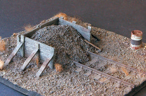 Uneek 541: HO Gauge Railway: Accessories: Ash Filled Buffer : Pkt 1: No. 541