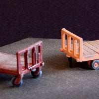 Uneek 740: HO Gauge Railway: Accessories: Four-wheeled Luggage Cart: Pkt 2 : No. 740