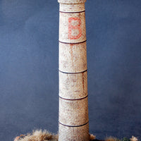 Uneek 860: HO Gauge Railway: Small Factory Chimney (plaster) 120mm high: Pkt 1: No. 860