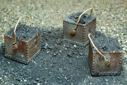 Uneek 881: HO Gauge Railway: Coal Buckets (Square): Pkt 3: No. 881