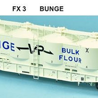 SDS Models: Victorian Railways: FX / VPFX: Bulk Flour Wagon: VR 70's: Single Pack FX3 Bunge