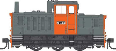 IDR MODELS -14.   W 244 Rebuilt Body V/ line orange & Gray Standard DC version. IDR-14 - DC.