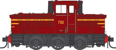 IDR MODELS -15.   NSWGR 7101 Indian Red. Original Body type. Standard DC version. IDR -15- DC.