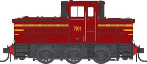IDR MODELS  -15.   NSWGR 7101 Indian Red. Original Body type. NON Sound DCC version. IDR-15- DCC