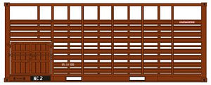 SDS Models: Victorian Railways: 20' MC CATTLE CONTAINER: Pack C