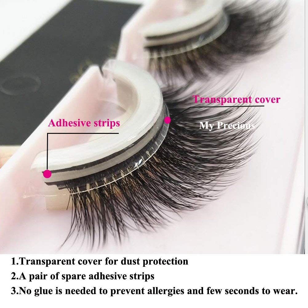 (80%OFF TODAY)Self-Adhesive Reusable Natural 3D Eye Lashes--Not allergic(BUY 1 GET 1 FREE!!!)