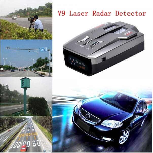 V9 LED Display Laser Car Speed Radar Detector Velocimeter Black