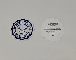 RWR OLD SCHOOL ORIGINALS SILKSCREEN VINYL STICKER