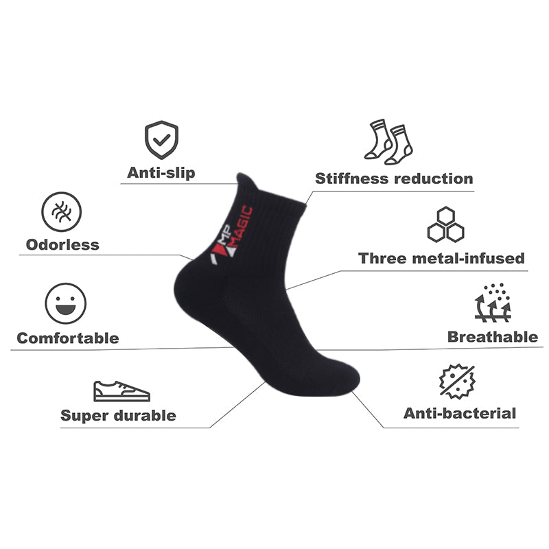 MP Magic Red Crew antibacterial Sports Socks