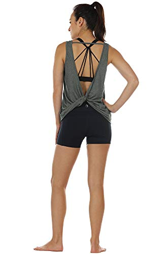 Open Back Strappy Athletic Tank Top