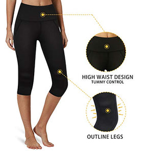 High Waisted Yoga Capri Pant with Back Pocket