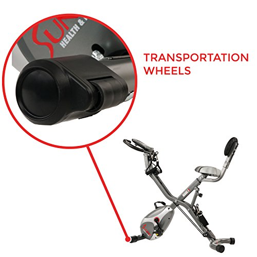 Foldable Semi Recumbent Upright Exercise Bike