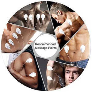 FDA Cleared Muscle Stimulator - 16 Modes & 12 Pads