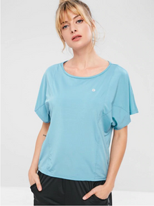 Batwing Sleeve T-shirt - Baby Blue