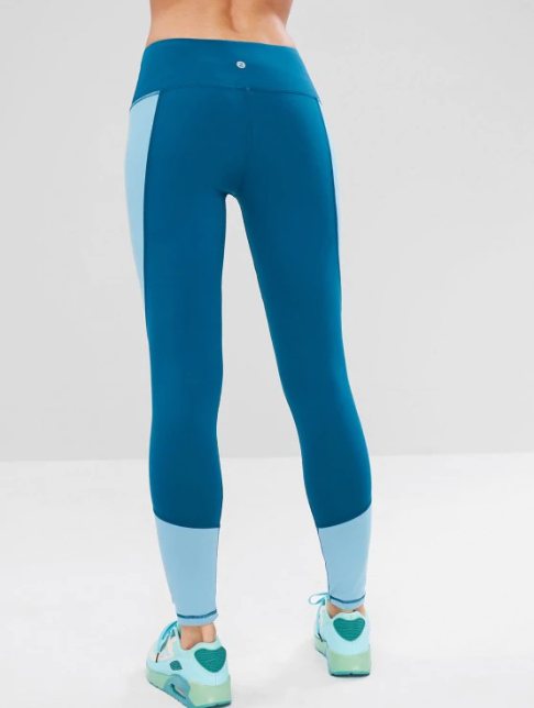 Color Block Wide Waistband Gym Leggings