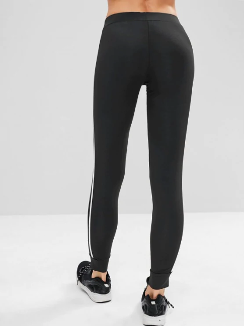 Contrast Side Sports Gym Jogger Pants