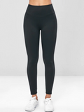 Elastic Wide Waistband Yoga Gym Leggings