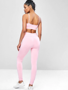 High Rise Cami Yoga Gym Suits