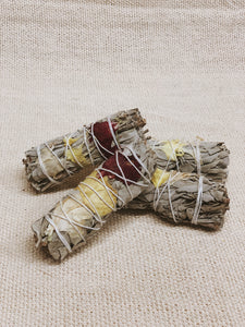 SMALL FLORAL SAGE STICK