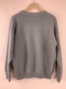 TAN KNIT FISHERMAN SWEATER