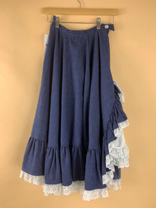 VINTAGE SADDLE UP RUFFLE SKIRT