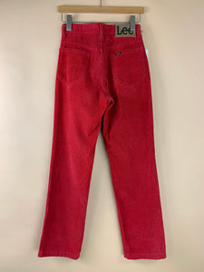 LEE RED CORD PANTS