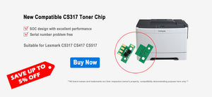 XWK refill toner chip for Lexmark CS317 CS417 CS517 Reset