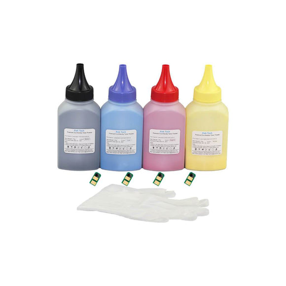 XWK Toner Powder Refill Kit for OKI C310dn C330dn C510dn MC361dn 4 Colors With Chips EX JP
