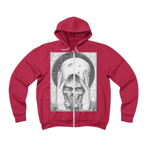 """The Offering of Dajjal"" Unisex Sponge Fleece Full-Zip Hoodie"