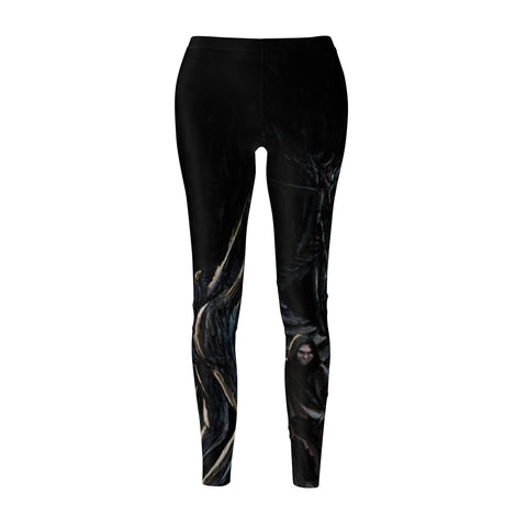 Into the Pits of Oblivion/Unforgotten Kin Women's Cut & Sew Casual Leggings