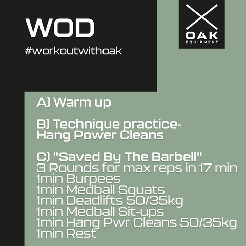 WOD Saved by the barbell
